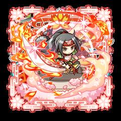 Sumeragi Kaede protecting her shop