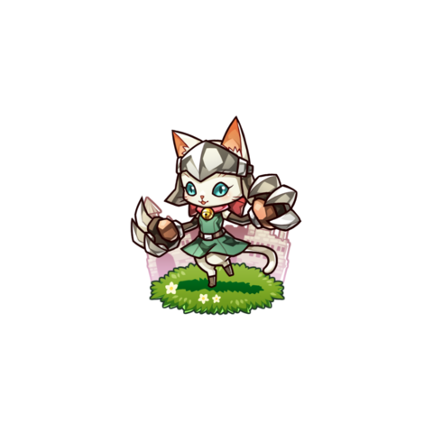 A Nail Cat (White) in the mobile game