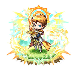 Sigurd (Hero of Sunlight) after succeeding on his revenge in the mobile game