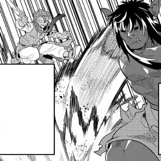 A Black Ogre attacking Netsuki
