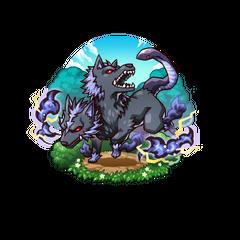 Kurosaburou as an Orthrus in the mobile game
