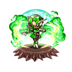 The Green Paraberanger as a Karma Oni in the mobile game