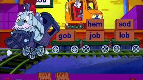 Reader Rabbit's Reading 1- Word Train Game