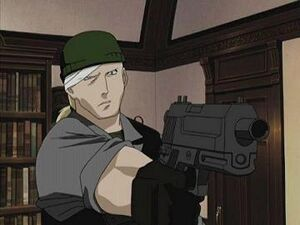 Drake with pistol