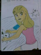 Eunice with rabbits
