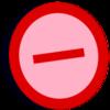 Symbol oppose vote oversat