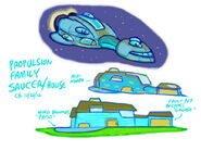 Ready Jet Go! Concept Art - Propulsion Family Saucer:House