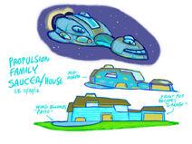 Ready Jet Go! Concept Art - Propulsion Family Saucer:House
