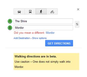 Google Maps Mordor easter egg