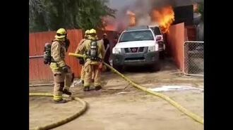 Man rushes into his burning house to save his dog