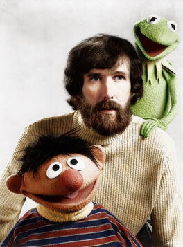 Jim henson together with ernie and kermit the frog by zuzahin-d5r1ntz