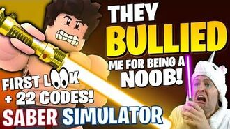 THEY BULLIED ME FOR BEING A NOOB ! First Look How To Play Roblox Saber Simulator ALL CODES UPDATE 3