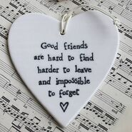 Original good-friends-hanging-ceramic-heart