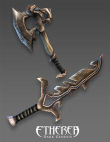 Skeleton dagger axe
