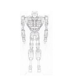 Real steel paladin skeleton sketch rsw