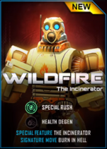 Real Steel WRB Wildfire Card