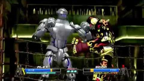 Real Steel ALEX (Player) VS SKAR Underworld FIGHT 3 XBOX360