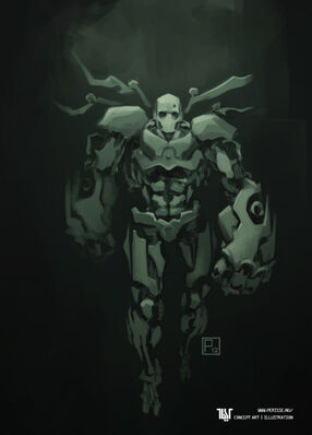 640x890 17147 Robot 2d sci fi character sketch robot concept art speed painting picture image digital art