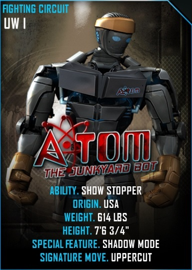 Image - Atom card.jpeg | Real Steel Wiki | FANDOM powered ...