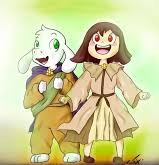 Chara pre-corruption and Asriel