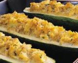 Crab stuffed zucchini