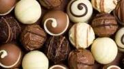 Various types of chocolate truffles