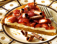 Strawberry mascarpone dessert pizza