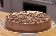 Espresso chocolate cheesecake