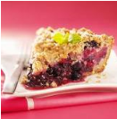 Berry crumb pie