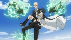 Gamma salvando a Yuni
