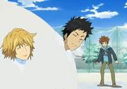 Dino y Yamamoto atrapados en la nieve