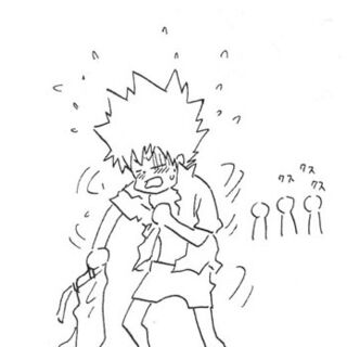 Tsuna putting on clothes