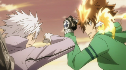 Tsuna Faces Off Against Byakuran