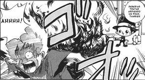 Reborn quema a Tsuna