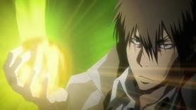 Xanxus usando su llama de la ira