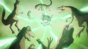 Lambo derrotando a los Velociraptors de Kikyo