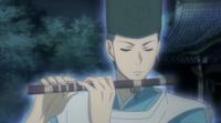 Asari tocando la fluta