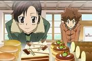 Haru y Tsuna en la pastelería