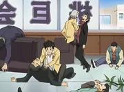 Yamamoto y Gokudera vencen a los Momokyokai