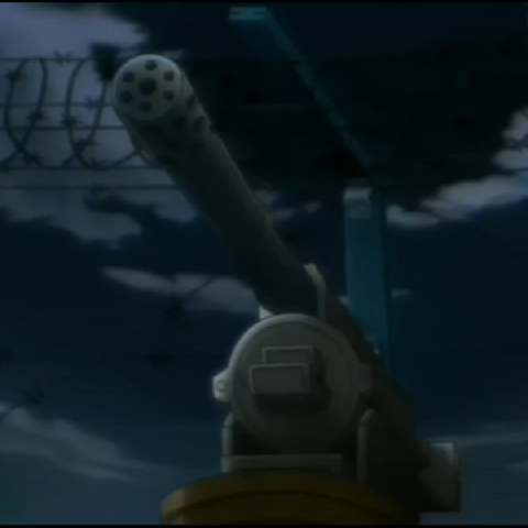 Gatling guns.
