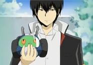 Hibari atrapa a Leon