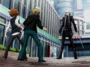 Squalo se encuentra con Tsuna y Basil