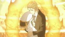 Yuni y gamma sacrificandose para revivir a los arcobalenos