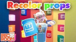 How to Rec Room - Recolor Props & Rec Room original inventions!