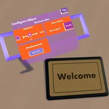 Palette configure welcome mat