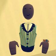 Green Barber Shop Vest