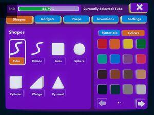 Palette shapes