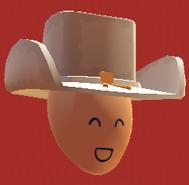 White coybow hat