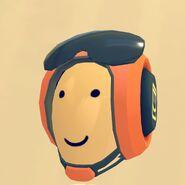 Orange Pilot Helmet