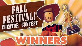 Fall Festival Room Creator Contest Winners!